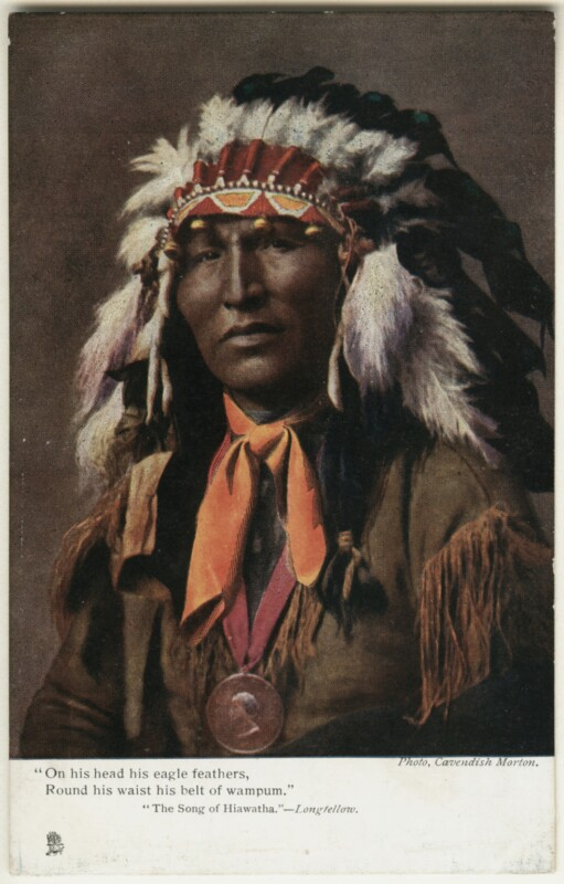 Native American Chief, by Cavendish Morton, printed and published by  Raphael Tuck & Sons, 1903 - NPG x128856 - © National Portrait Gallery, London