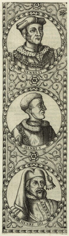 King Henry IV; King Henry V; King Henry VI, by Jodocus Hondius, 1610 - NPG D23855 - © National Portrait Gallery, London
