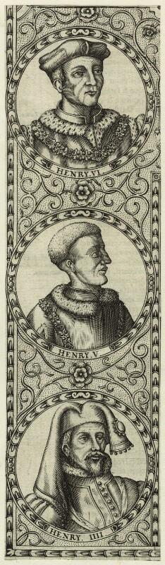 King Henry IV; King Henry V; King Henry VI, by Jodocus Hondius, 1610 - NPG D23855 - © National Portrait Gallery, London