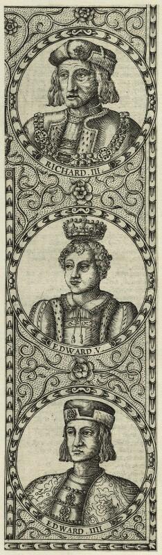 King Edward IV, King Edward V, King Richard III, by Jodocus Hondius, 1610 - NPG D23857 - © National Portrait Gallery, London