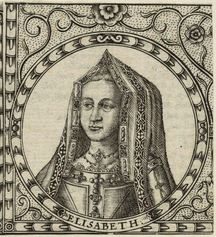 Elizabeth of York, by Jodocus Hondius, 1610 - NPG D23859 - © National Portrait Gallery, London