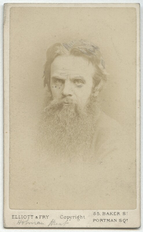 William Holman Hunt, by Elliott & Fry, late 1860s? - NPG x11987 - © National Portrait Gallery, London