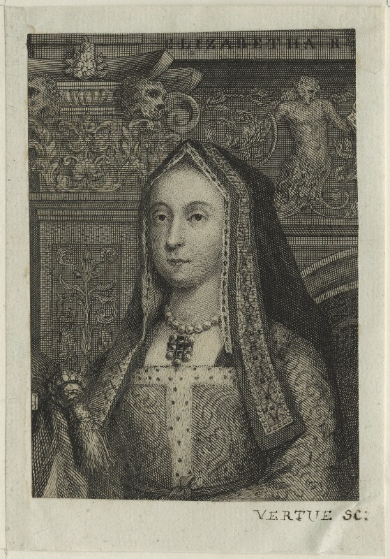 Elizabeth of York, possibly by George Vertue, probably 18th century - NPG D23863 - © National Portrait Gallery, London