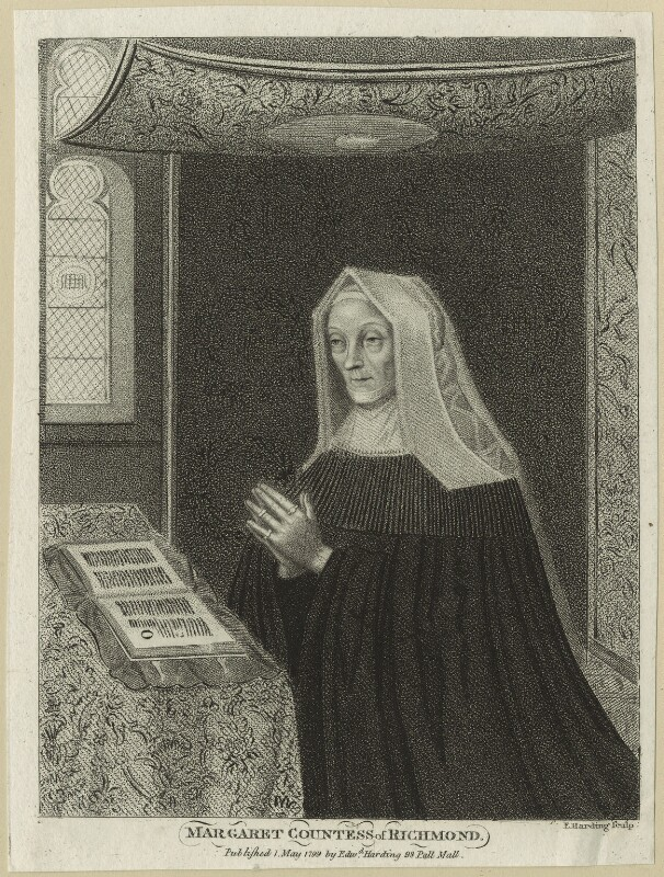 Lady Margaret Beaufort, Countess of Richmond and Derby, by and published by Edward Harding, published 1 May 1799 - NPG D23866 - © National Portrait Gallery, London