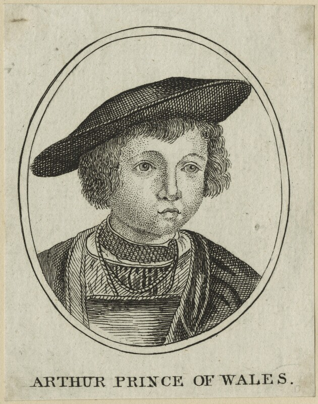 John (or Hans), Prince of Denmark engraved as Arthur, Prince of Wales, after Unknown artist, late 18th century - NPG D23867 - © National Portrait Gallery, London