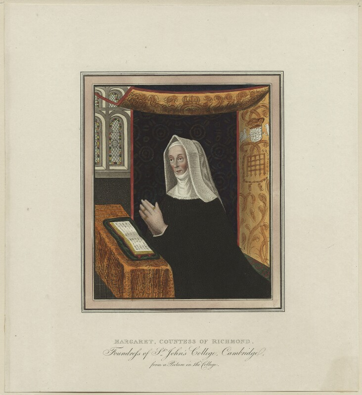 Lady Margaret Beaufort, Countess of Richmond and Derby, after Unknown artist, circa 1815 - NPG D23873 - © National Portrait Gallery, London