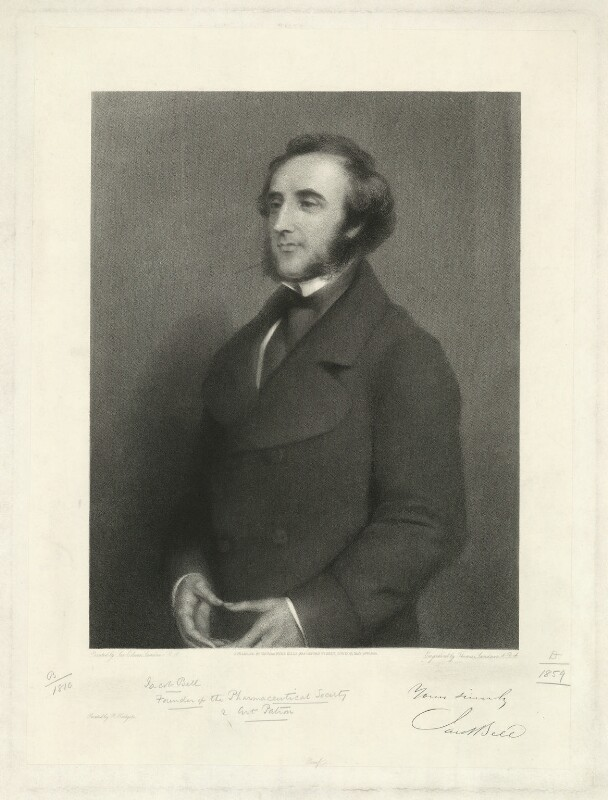 Jacob Bell, by Thomas Landseer, after  Sir Edwin Henry Landseer, published 1869 - NPG D31646 - © National Portrait Gallery, London