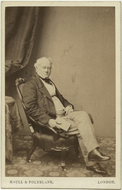 Thomas Pemberton Leigh, Baron Kingsdown, by Maull & Polyblank, 1860-1865 - NPG x19151 - © National Portrait Gallery, London