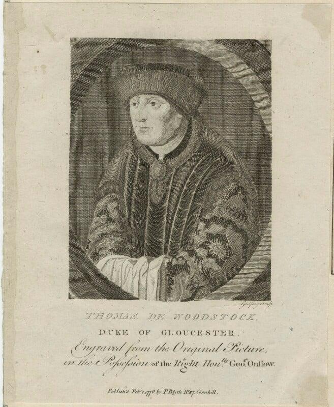 Thomas of Woodstock, Duke of Gloucester, by Richard Godfrey, published 1776 - NPG D23918 - © National Portrait Gallery, London