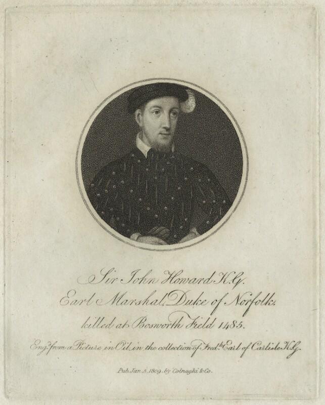 John Howard, Duke of Norfolk, published by Colnaghi & Co, published 5 January 1809 - NPG D23919 - © National Portrait Gallery, London