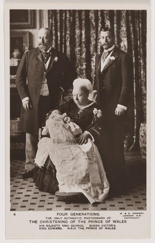 NPG x128876; Four Generations (King Edward VII; Prince Edward, Duke of  Windsor (King Edward VIII); Queen Victoria; King George V) - Portrait -  National Portrait Gallery