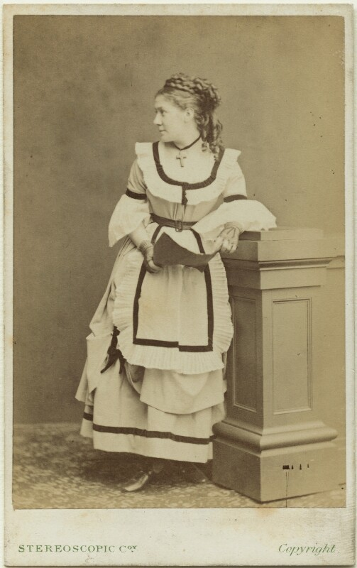 Madge Kendal, by London Stereoscopic & Photographic Company, 1870s - NPG x19107 - © National Portrait Gallery, London