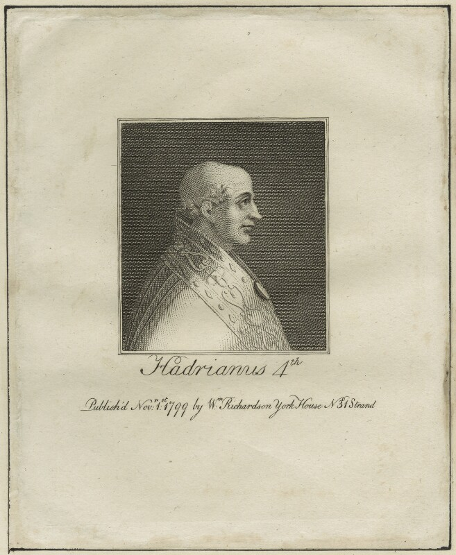 Pope Adrian IV, published by William Richardson, published 1799 - NPG D23959 - © National Portrait Gallery, London