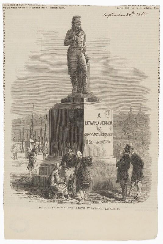 Edward Jenner, published by Illustrated London News, after  M.E. Paul, published 30 September 1865 (11 September 1865) - NPG D9007 - © National Portrait Gallery, London