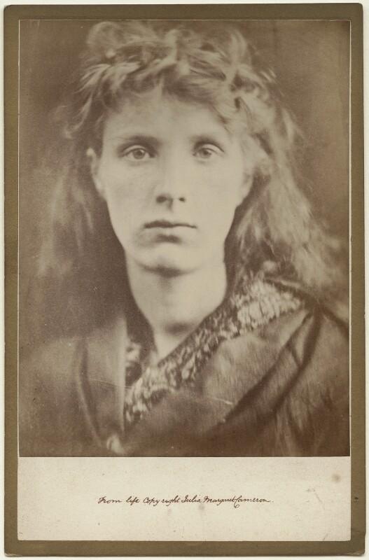 'The Mountain Nymph Sweet Liberty' (Mrs Keene), by Julia Margaret Cameron, 1866 - NPG x18061 - © National Portrait Gallery, London