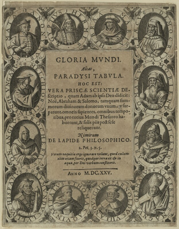 Title page to 'Gloria Mundi' (1625), after Unknown artist, published 1625 - NPG D23981 - © National Portrait Gallery, London