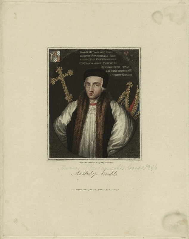 Thomas Arundel (Fitzalan), Archbishop of Canterbury, after Unknown artist, published 1806 - NPG D23997 - © National Portrait Gallery, London