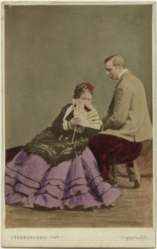 Madge Kendal; William Hunter Kendal (William Hunter Grimston), by London Stereoscopic & Photographic Company, early 1870s - NPG x19111 - © National Portrait Gallery, London