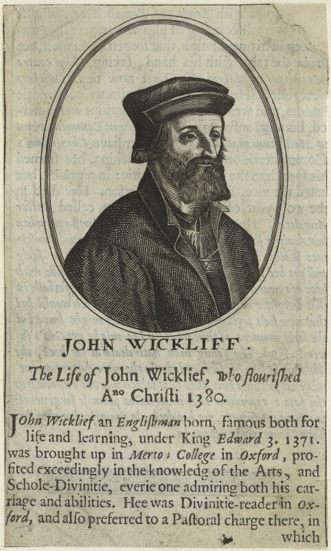 John Wyclif, after Hendrik Hondius (Hond), after 1602 - NPG D24010 - © National Portrait Gallery, London