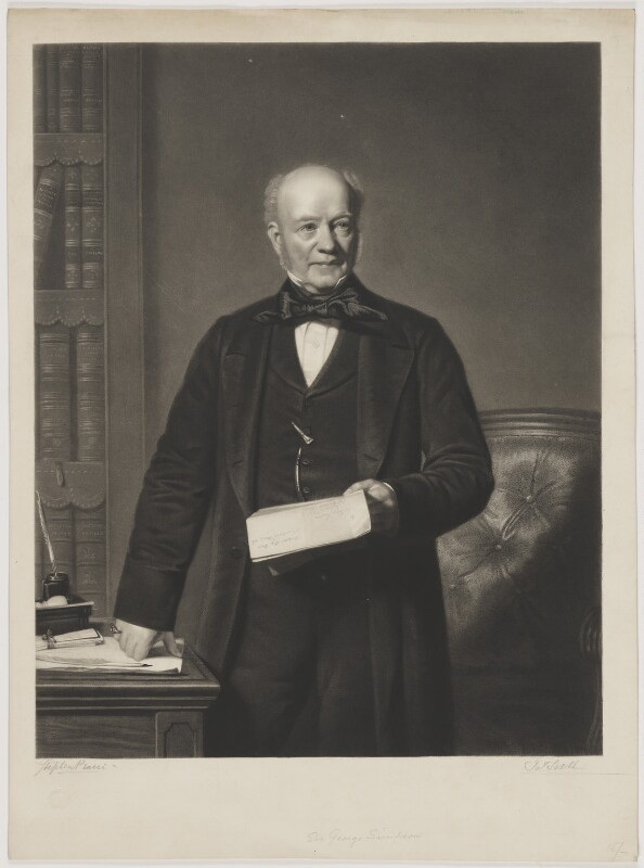 Sir George Simpson, by James Scott, after  Stephen Pearce, (1857) - NPG D31633 - © National Portrait Gallery, London
