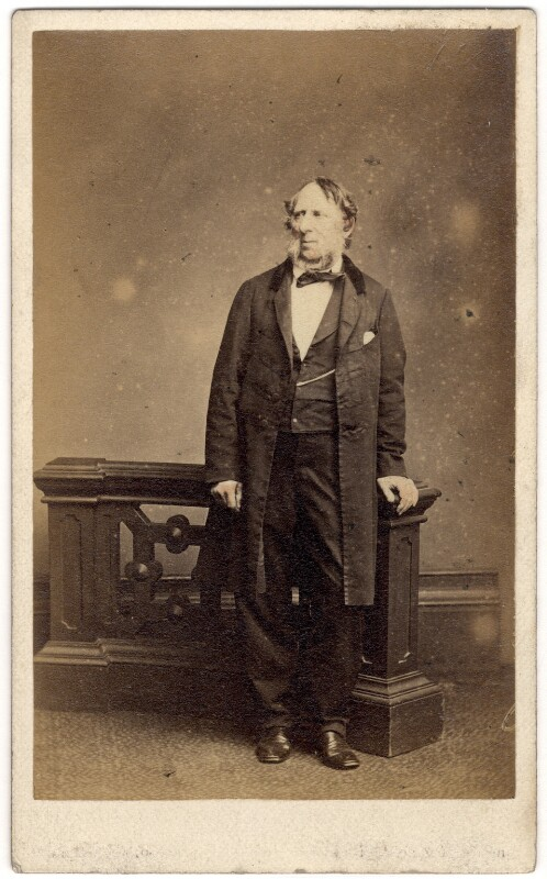 George Cruikshank, by Mayall, mid 1860s - NPG x7061 - © National Portrait Gallery, London