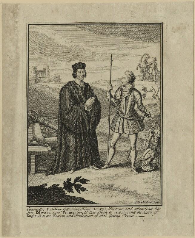 Sir John Fortescue, by Gerard Vandergucht, probably 18th century - NPG D24046 - © National Portrait Gallery, London
