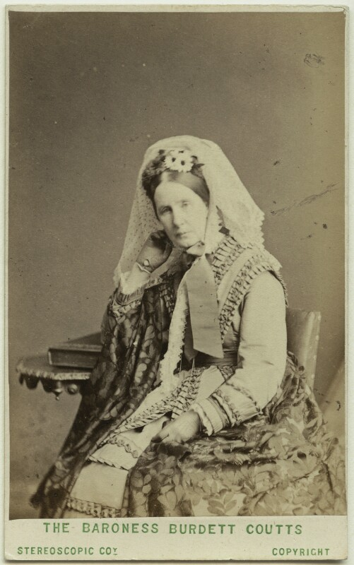 Angela Burdett-Coutts, Baroness Burdett-Coutts, by London Stereoscopic & Photographic Company, 1870s - NPG Ax28404 - © National Portrait Gallery, London