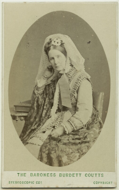 Angela Burdett-Coutts, Baroness Burdett-Coutts, by London Stereoscopic & Photographic Company, 1870s - NPG Ax46221 - © National Portrait Gallery, London