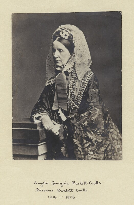 Angela Burdett-Coutts, Baroness Burdett-Coutts, by London Stereoscopic & Photographic Company, 1870s - NPG x4891 - © National Portrait Gallery, London