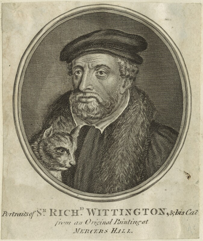 Fictitious portrait of Richard ('Dick') Whittington, by Guillaume Philippe Benoist, 1766 or after - NPG D24070 - © National Portrait Gallery, London