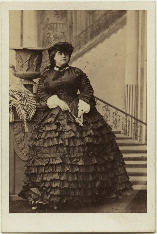Princess Mary Adelaide, Duchess of Teck, by Camille Silvy, 9 October 1860 - NPG x26729 - © National Portrait Gallery, London