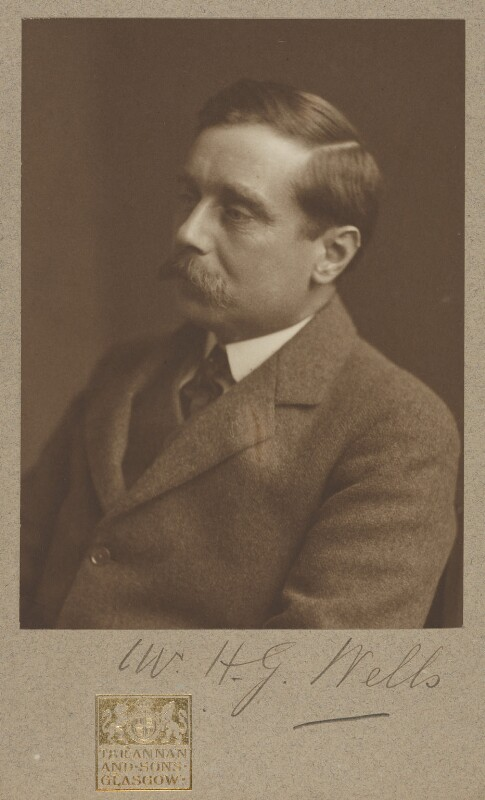 H.G. Wells, possibly by James Craig Annan, 1907 - NPG P1132 - © National Portrait Gallery, London