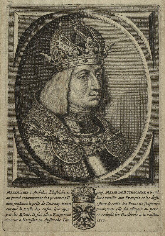 Maximilian I, Holy Roman Emperor, after Unknown artist, perhaps 18th century - NPG D24120 - © National Portrait Gallery, London