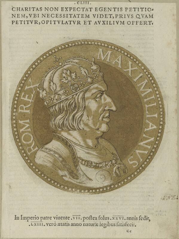 Maximilian I, Holy Roman Emperor, after Unknown artist, probably 17th century - NPG D24121 - © National Portrait Gallery, London