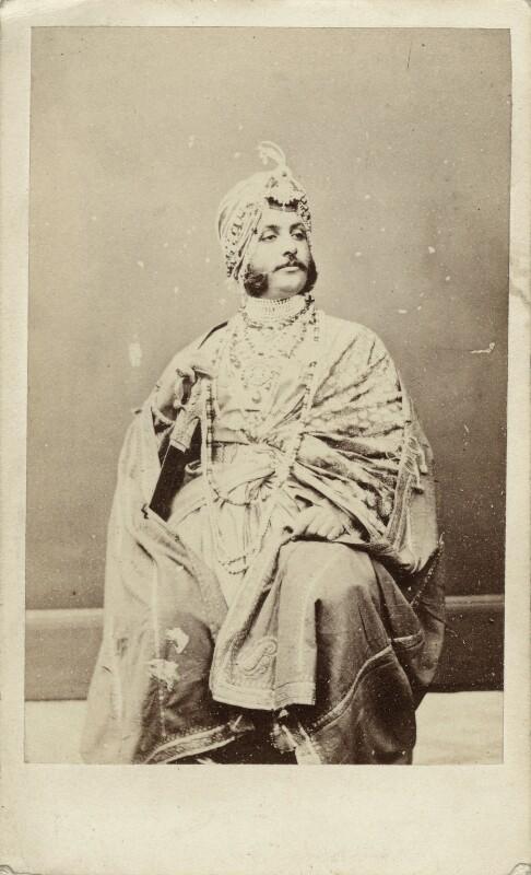 Maharaja Duleep Singh, by Antoine Claudet, circa 1864 - NPG x1506 - © National Portrait Gallery, London