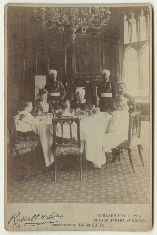 'A Royal Luncheon Party at Windsor', by Mary Steen, printed and published by  James Russell & Sons, 1895 - NPG x46561 - © National Portrait Gallery, London