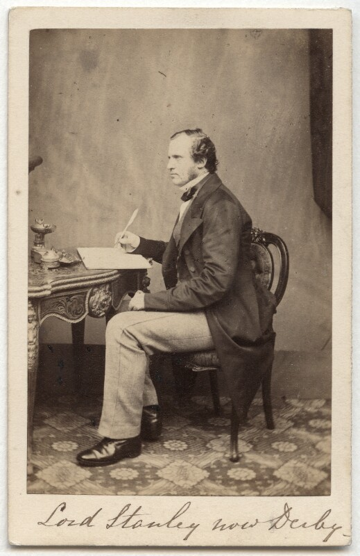 Edward Henry Stanley, 15th Earl of Derby, by Maull & Polyblank, 1860-1865 - NPG x12895 - © National Portrait Gallery, London