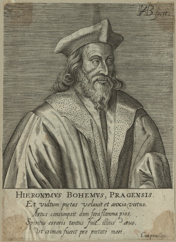 Jerome of Prague, by H.B., perhaps 18th century - NPG D24133 - © National Portrait Gallery, London