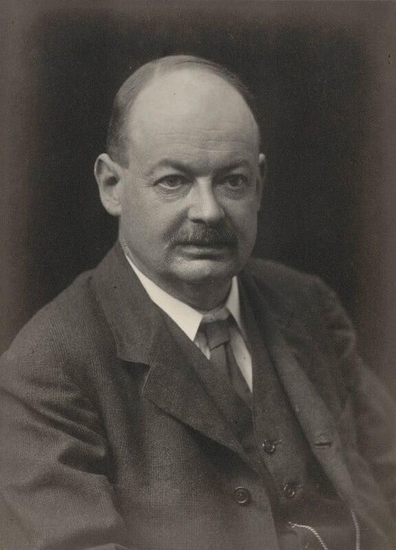 John Mctaggart Ellis McTaggart, by Walter Stoneman, 1917 - NPG x166840 - © National Portrait Gallery, London
