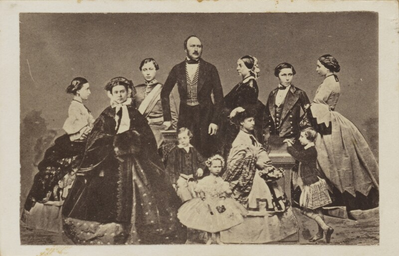 Prince Albert of Saxe-Coburg-Gotha, Queen Victoria and their children, after John Jabez Edwin Mayall, circa 1861 - NPG Ax9571 - © National Portrait Gallery, London
