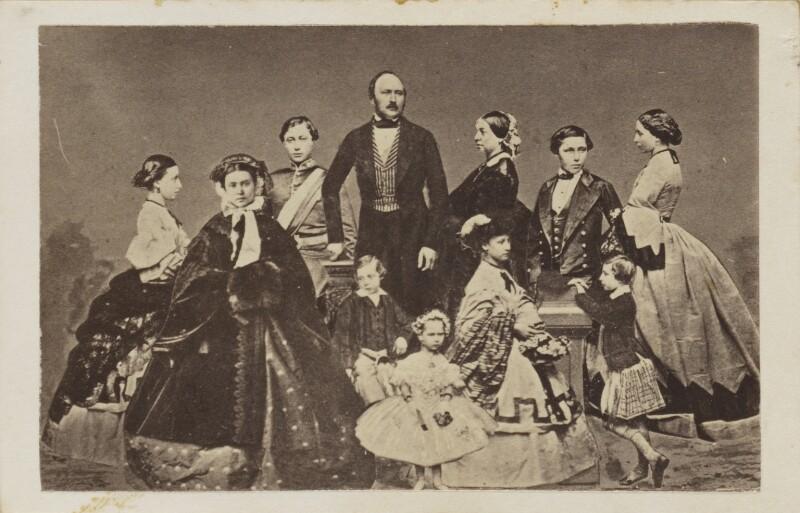 Prince Albert of Saxe-Coburg-Gotha, Queen Victoria and their children, after John Jabez Edwin Mayall, circa 1861 - NPG Ax9571 - © National Portrait Gallery, London