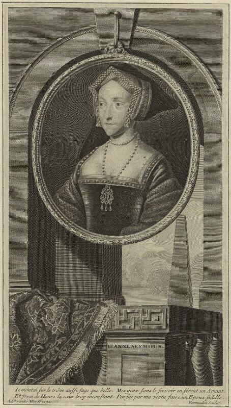 Jane Seymour, by Cornelis Martinus Vermeulen, after  Adriaen van der Werff, possibly 1707 - NPG D24182 - © National Portrait Gallery, London