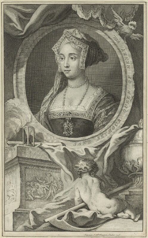 Jane Seymour, probably by Jacobus Houbraken, possibly 1746 - NPG D24184 - © National Portrait Gallery, London