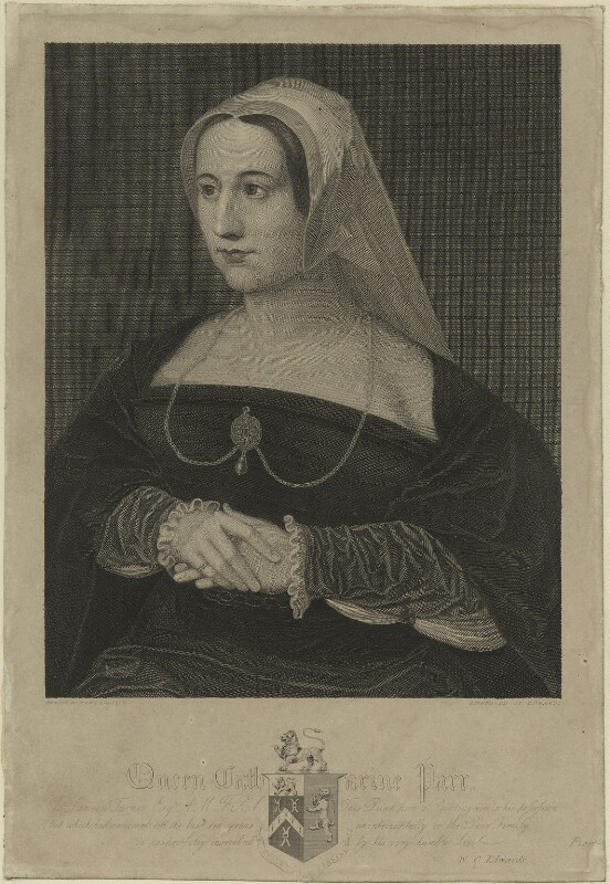Katherine Parr, by William Camden Edwards, after  Hans Holbein the Younger, early 19th century - NPG D24191 - © National Portrait Gallery, London