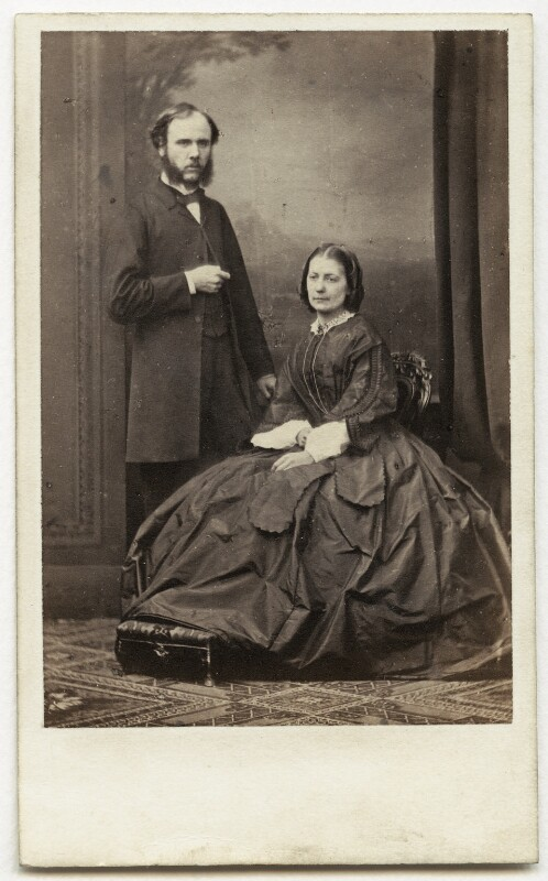 Sir Wyke Bayliss; Elizabeth Letitia (née Broade), Lady Bayliss, by Antoine Claudet, 1860s - NPG x75775 - © National Portrait Gallery, London