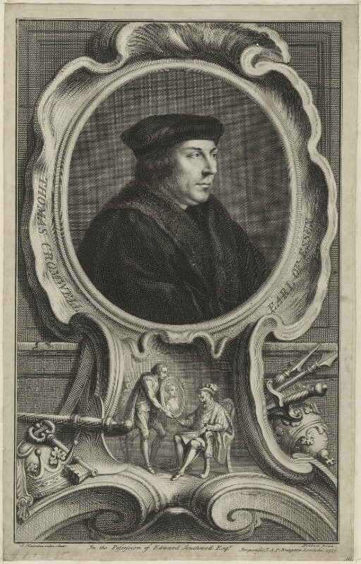 Thomas Cromwell, Earl of Essex, by Jacobus Houbraken, after  Hans Holbein the Younger, published 1739 - NPG D24208 - © National Portrait Gallery, London