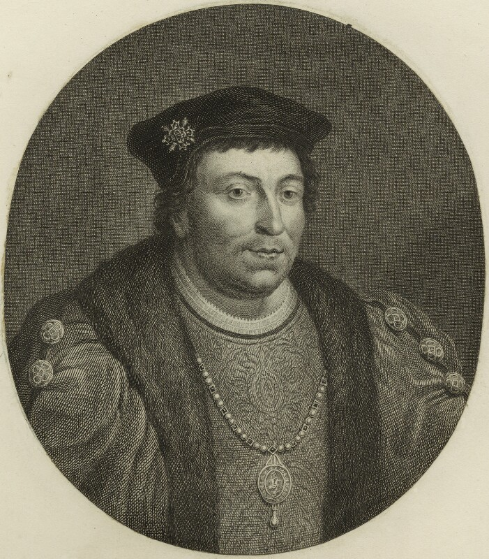 Edward Stafford, 3rd Duke of Buckingham, probably by Jacobus Houbraken, after  Hans Holbein the Younger, published 1747 - NPG D24218 - © National Portrait Gallery, London