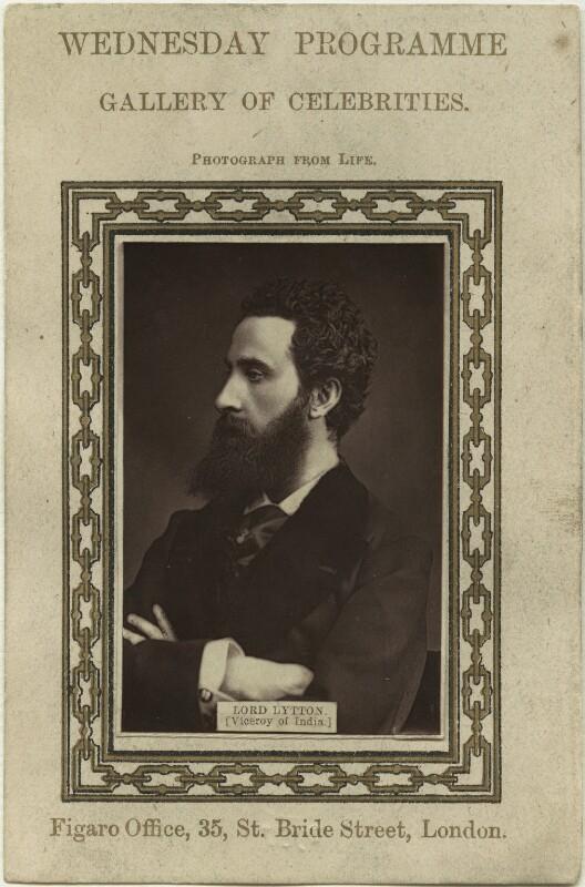 Edward Robert Bulwer-Lytton, 1st Earl of Lytton, published by Figaro Office, 1870s - NPG x20175 - © National Portrait Gallery, London