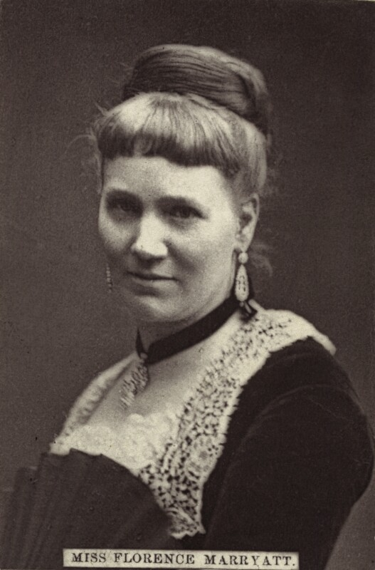 Florence Marryat, by Unknown photographer, late 1860s-1870s - NPG x21214 - © National Portrait Gallery, London