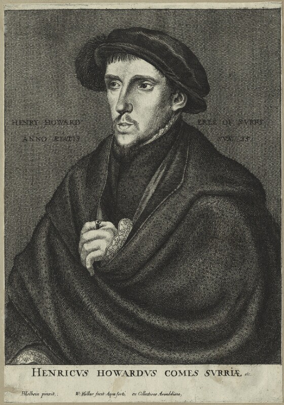 Henry Howard, Earl of Surrey, attributed to Wenceslaus Hollar, after  Hans Holbein the Younger, possibly 17th century - NPG D24232 - © National Portrait Gallery, London